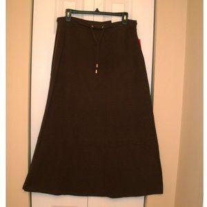 Liz Claiborne Active Brown Long Skirt, Petite Med.